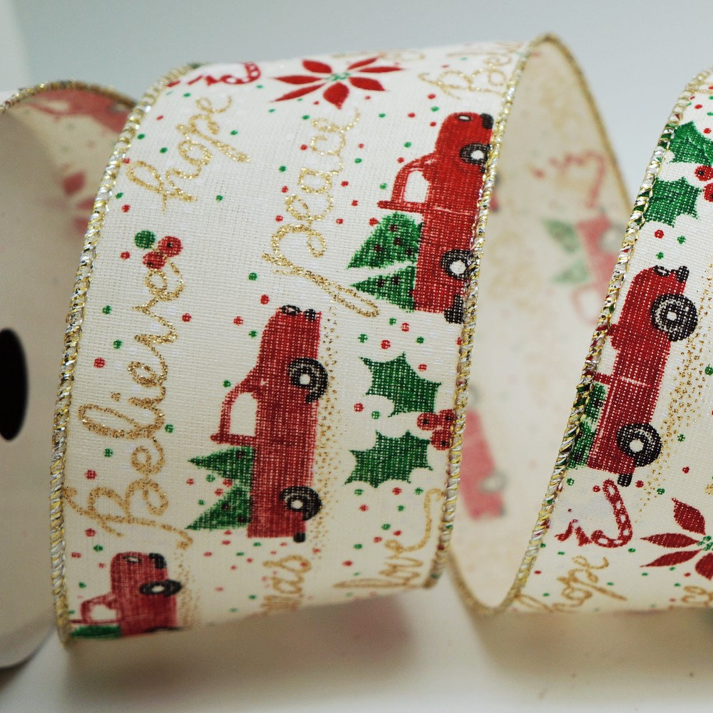 Argent Or Organza Ruban Brillant Mariage Craft maison arbre de Noël Décoration