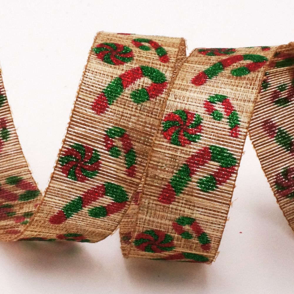 Christmas Candy Cane Ribbon