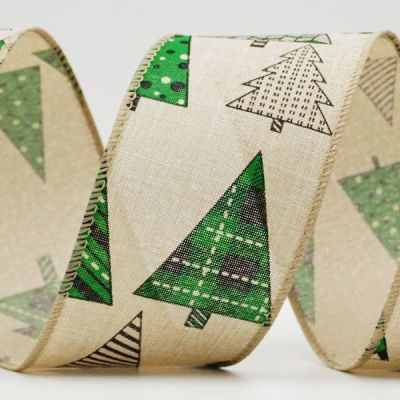 Patterned Christmas Tree Ribbon