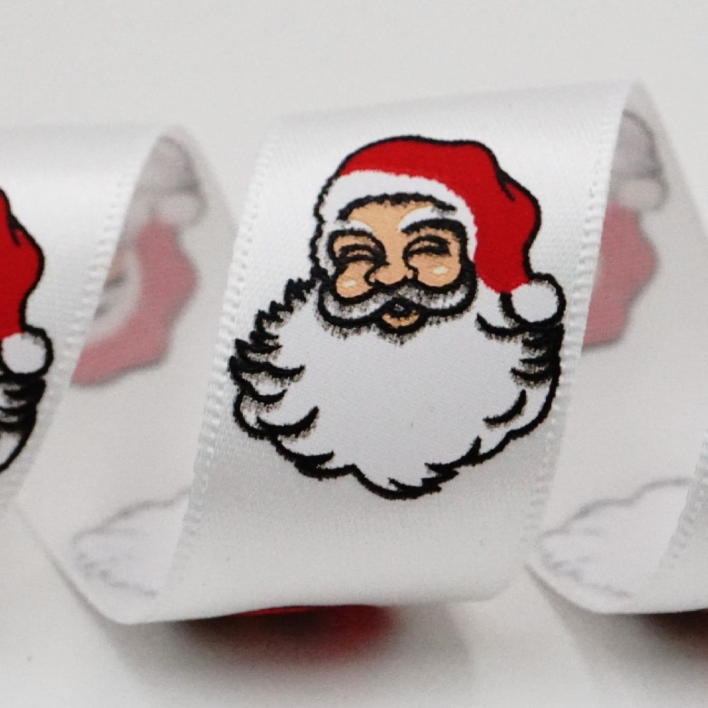 Smiling Santa Ribbon