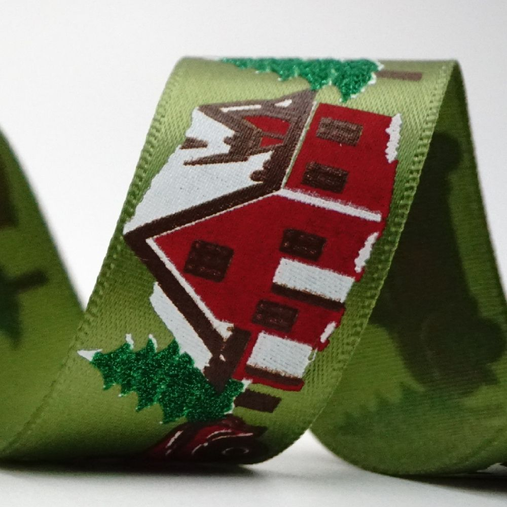 Vintage Christmas Truck Ribbon