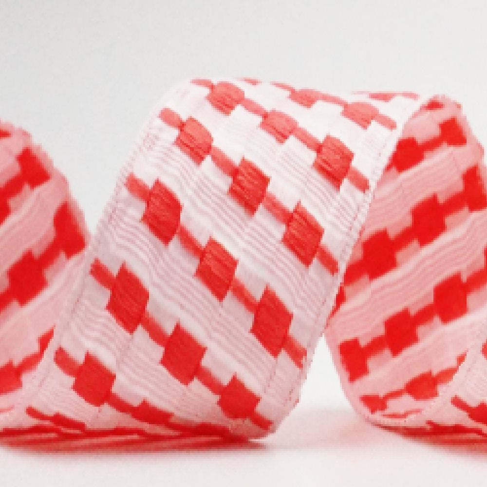 Woven Checkerboard Ribbon